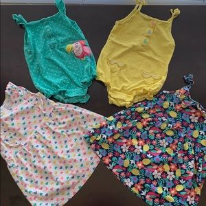 Dress and Onesie lot (4)